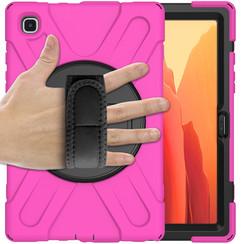 Samsung Galaxy Tab A7 (2020) hoes - 10.4 inch - Hand Strap Armor Case - Magenta