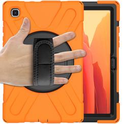 Samsung Galaxy Tab A7 (2020) hoes - 10.4 inch - Hand Strap Armor Case - Oranje