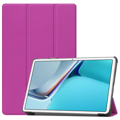 Huawei MatePad 11 Inch (2021) Hoes - Tri-Fold Book Case - Paars