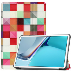 Huawei MatePad 11 Inch (2021) Hoes - Tri-Fold Book Case - Blocks