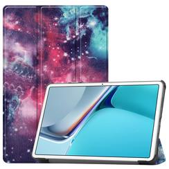 Huawei MatePad 11 Inch (2021) Hoes - Tri-Fold Book Case - Galaxy