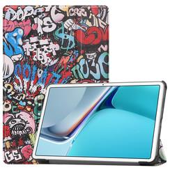 Huawei MatePad 11 Inch (2021) Hoes - Tri-Fold Book Case - Graffiti