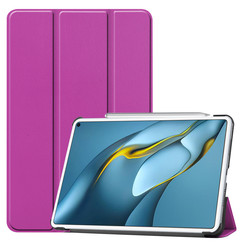 Huawei MatePad Pro 10.8 (2021) Hoes - Tri-Fold Book Case - Paars