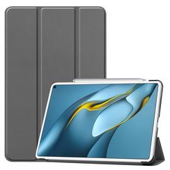 Huawei MatePad Pro 10.8 (2021) Hoes - Tri-Fold Book Case - Grijs