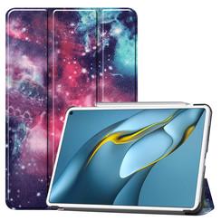 Huawei MatePad Pro 10.8 (2021) Hoes - Tri-Fold Book Case - Galaxy