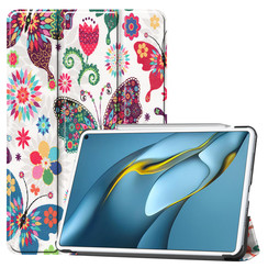 Huawei MatePad Pro 10.8 (2021) Hoes - Tri-Fold Book Case - Vlinders