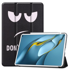 Huawei MatePad Pro 10.8 (2021) Hoes - Tri-Fold Book Case - Don't Touch Me