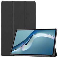 Huawei MatePad Pro 12.6 (2021) Hoes - Tri-Fold Book Case - Zwart