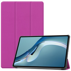 Huawei MatePad Pro 12.6 (2021) Hoes - Tri-Fold Book Case - Paars