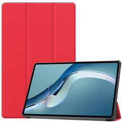 Huawei MatePad Pro 12.6 (2021) Hoes - Tri-Fold Book Case - Rood