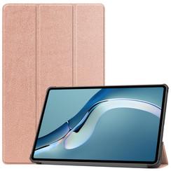 Huawei MatePad Pro 12.6 (2021) Hoes - Tri-Fold Book Case - Rosé-Goud