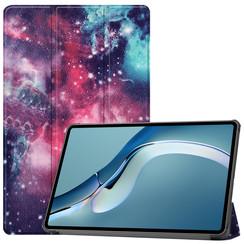 Huawei MatePad Pro 12.6 (2021) Hoes - Tri-Fold Book Case - Galaxy