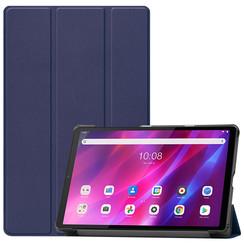 Lenovo Tab K10 (10.3 Inch) Hoes - Tri-Fold Book Case - Donker Blauw