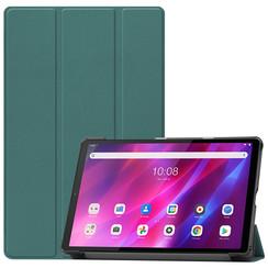 Lenovo Tab K10 (10.3 Inch) Hoes - Tri-Fold Book Case - Donker Groen