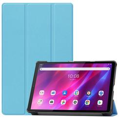 Lenovo Tab K10 (10.3 Inch) Hoes - Tri-Fold Book Case - Licht Blauw