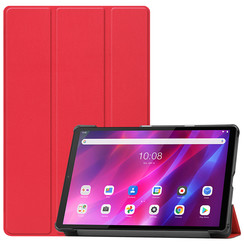 Lenovo Tab K10 (10.3 Inch) Hoes - Tri-Fold Book Case - Rood