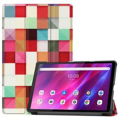 Lenovo Tab K10 (10.3 Inch) Hoes - Tri-Fold Book Case - Blocks