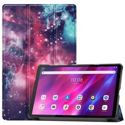 Lenovo Tab K10 (10.3 Inch) Hoes - Tri-Fold Book Case - Galaxy