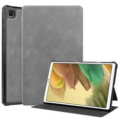 Samsung Galaxy Tab A7 Lite Hoes - PU Leer Folio Book Case - Grijs