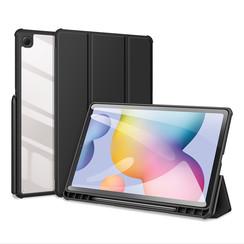 Samsung Galaxy Tab S6 Lite Hoes - Dux Ducis Toby Tri-Fold Book Case - Zwart