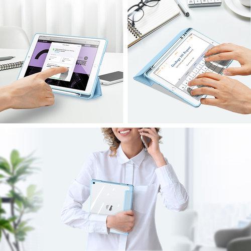 Dux Ducis Apple iPad 10.2 2019/2020 Hoes - Dux Ducis Toby Tri-Fold Book Case - Blauw