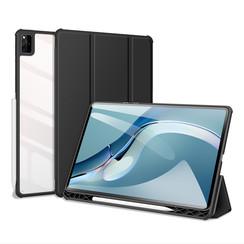 Huawei MatePad Pro 12.6 (2021) Hoes - Dux Ducis Toby Tri-Fold Book Case - Zwart