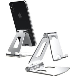 Telefoon en Tablet houder - Ergonomisch design - Opvouwbaar - Smartphone standaard voor Bureau of Tafel - Zilver