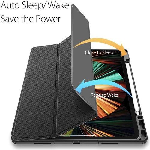 Dux Ducis Apple iPad Pro 2021 (12.9 Inch)  Hoes - Dux Ducis Toby Tri-Fold Book Case - Zwart