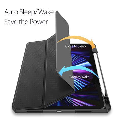 Dux Ducis Apple iPad Pro 2021 (11 inch) Hoes - Dux Ducis Toby Tri-Fold Book Case - Zwart