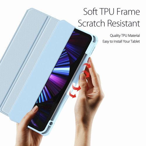 Dux Ducis Apple iPad Pro 2021 (11 inch) Hoes - Dux Ducis Toby Tri-Fold Book Case - Blauw