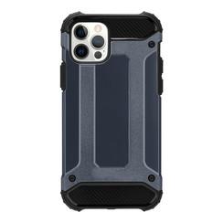 Telefoonhoesje geschikt voor iPhone 13 Mini - Metallic Armor Case - Donker Blauw