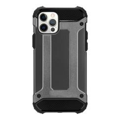 Telefoonhoesje geschikt voor iPhone 13 Mini - Metallic Armor Case - Grijs