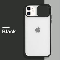 Mercury Goospery - Telefoonhoesje geschikt voor iPhone 13 - Camera Slide Case - Back Cover - Zwart