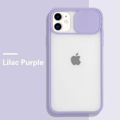 Mercury Goospery - Telefoonhoesje geschikt voor iPhone 13 - Camera Slide Case - Back Cover - Paars