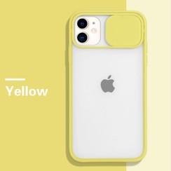 Mercury Goospery - Telefoonhoesje geschikt voor iPhone 13 - Camera Slide Case - Back Cover - Geel