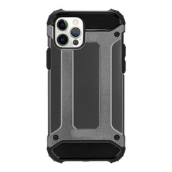 Telefoonhoesje geschikt voor iPhone 13 - Metallic Armor Case - Grijs