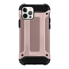 Telefoonhoesje geschikt voor iPhone 13 - Metallic Armor Case - Rose Goud