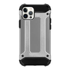 Telefoonhoesje geschikt voor iPhone 13 - Metallic Armor Case - Zilver