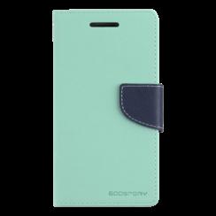 Telefoonhoesje geschikt voor Apple iPhone 13 Pro - Mercury Fancy Diary Wallet Case - Hoesje met Pasjeshouder - Licht Blauw/Donker Blauw