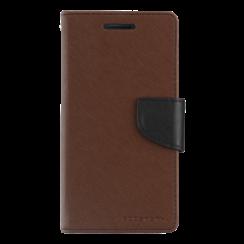 Telefoonhoesje geschikt voor Apple iPhone 13 Pro - Mercury Fancy Diary Wallet Case - Hoesje met Pasjeshouder - Bruin/Zwart