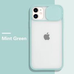 Mercury Goospery - Telefoonhoesje geschikt voor iPhone 13 Pro Max - Camera Slide Case - Back Cover - Licht Blauw
