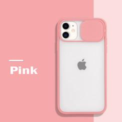 Mercury Goospery - Telefoonhoesje geschikt voor iPhone 13 Pro Max - Camera Slide Case - Back Cover - Roze