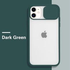 Mercury Goospery - Telefoonhoesje geschikt voor iPhone 13 Pro Max - Camera Slide Case - Back Cover - Donker Groen
