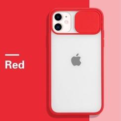 Mercury Goospery - Telefoonhoesje geschikt voor iPhone 13 Pro Max - Camera Slide Case - Back Cover - Rood