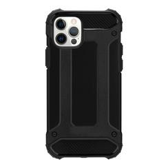 Telefoonhoesje geschikt voor iPhone 13 Pro Max - Metallic Armor Case - Zwart