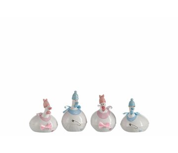 J -Line Ceramic chickens Baby Boy Baby Girl Blue Pink - Small