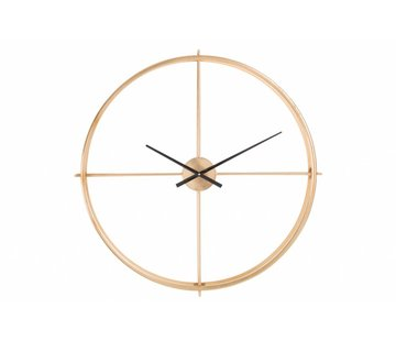 J -Line Wall Clock Round Gold Black - Small