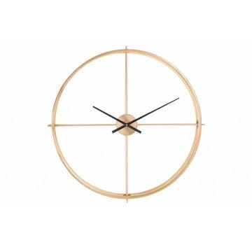 J -Line Wall Clock Round Gold Black - Small