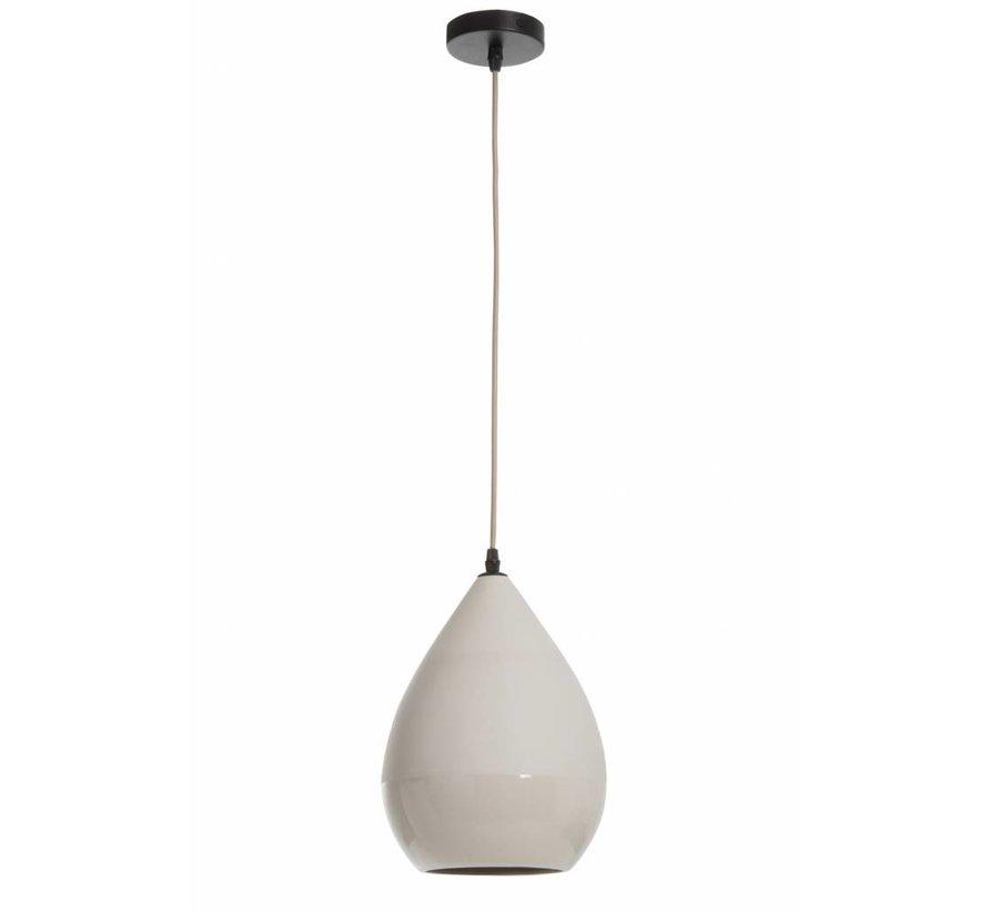 Hanglamp Porselein Peervormig - Grijs