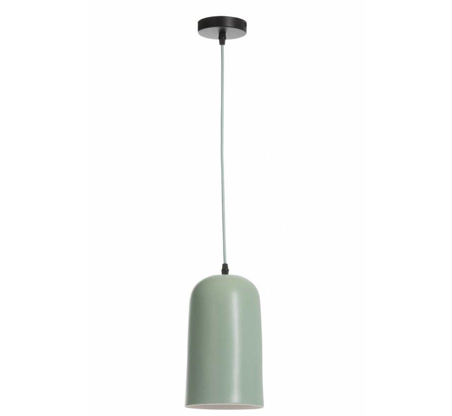 Hanglamp Porselein Conisch - Lichtgroen